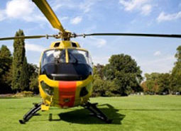 Rescue helicopter - front view